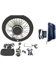48V1000W Hub Motor 12AH Panasonic NCR18650PF Li-on Batterie vélo électrique moteur Kit de conversion pour cyclisme + LCD + Tire Theebikemotor