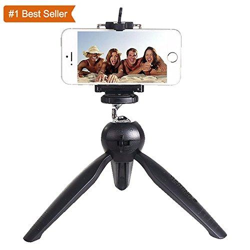 Rewy Yunteng Universal Mini Tripod For Digital Camera & All Android Iphone samsung Lenovo Micromax Oppo Vivo Moto One Plus Xiaomi - Black