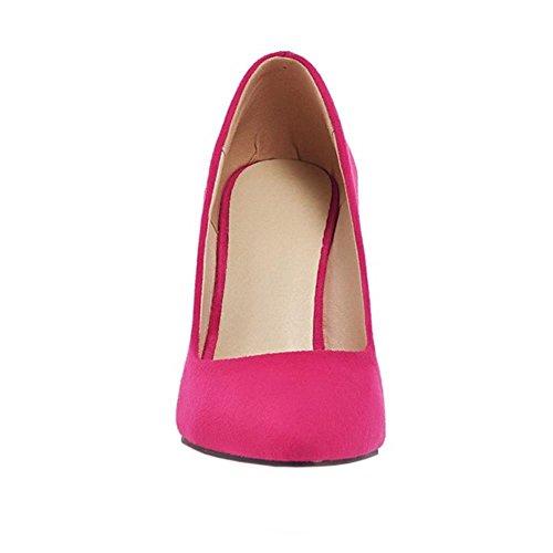 COOLCEPT Damen Mode-Event Geschlossene Pumps Stiletto Hochzeit Shoes Rot