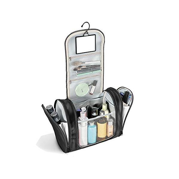 417SIsoLTaL. SS600  - Neceser con suspensión y Espejo + Bolsillos Interiores | Hombres, Mujeres y niños – Bolso de tocador hidrófugo para…