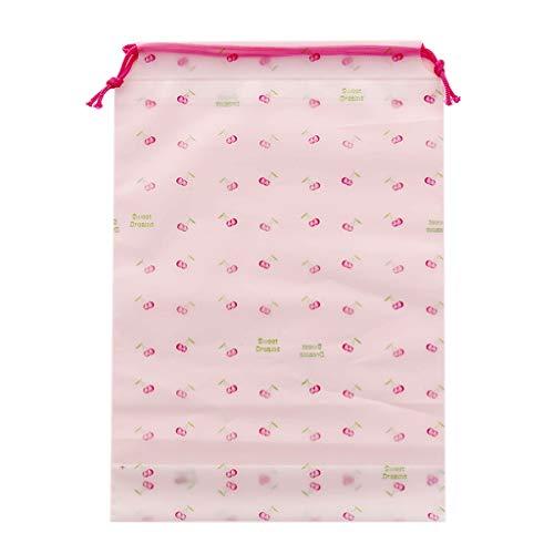 ZOOMY Cherry Print Reiseaccessoires Aufbewahrungstasche Kordelzug Kosmetiktasche für Kleidung Schuhe Körperpflege-Set Make-up Wasserdicht - M