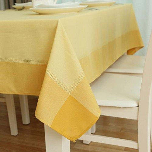 FJH Nappe Artex Solide Couleur Coton Nappe Simple Pastorale Mode Restaurant À Manger Table Tissu Café Table Couverture 140 * 180 cm (Couleur : Le jaune)