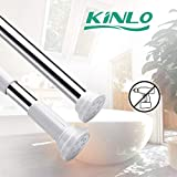 KINLO 70-120cm asta tende doccia Inossidabile telescopico bastone tenda doccia senza foratura per bagno/armadio/tende ecc