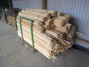 Rundstab 10 Stück Holzstab glatt geschliffen Durchmesser 24 mm Länge 1400 mm