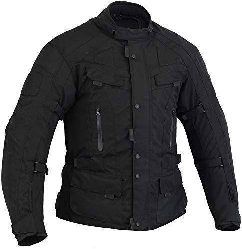 Australian Bikers Gear The Infinity Chaqueta de moto en color Negro tejido Cordura con protecciones TALLA L