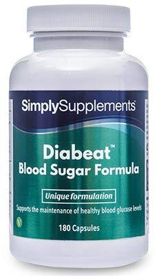 Diabeat - Con fieno greco e cromo - 180 capsule - Adatto ai vegani - 6 mesi di trattamento - SimplySupplements