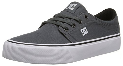 DC Trase TX M Shoe FRN, Herren Niedrige Sneaker, Grau - Grey/Grey/White - Größe: 37 EU (Dc Athletic Shoes Sneakers)