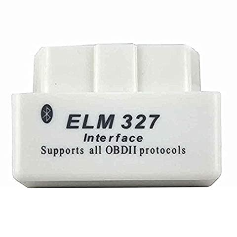 shine@Car Diagnostic ScannerMINI ELM327 Bluetooth OBD2 V1.5 Bluetooth Wireless Scan Tool OBDII For Android--(WHITE)
