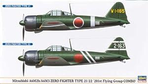 Hasegawa 00997 - Maqueta de avión Mitsubishi A6M2b/A6M3 Zero Fighter Tipo 21/22 importado de Alemania