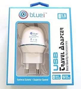 Bluei White 1.5 Amp Adaptor and One Cable for GIONEE ELIFE E6 PHONES