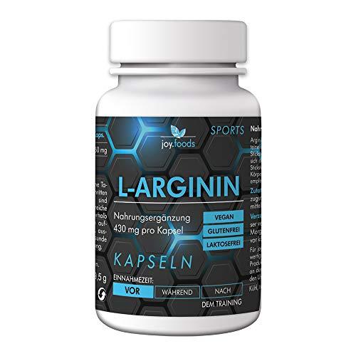 joy.foods L-Arginin Kapseln, pro Kapsel, Sportnahrung, 0.43 g