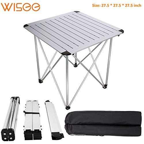 Leichter, Faltbarer Campingtisch mit Tasche, 71 cm tragbarer Outdoor-Picknick-Tisch für Camping, Strand, Hinterhof, Grill, Party und Picknick -