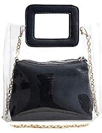 Donna Borse Scarpe e it Trasparente borse Amazon wnExf