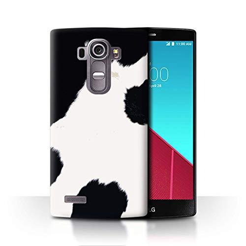 eSwish Hülle/Case für LG G4 Beat/H735 / Schwarz/Weiße Kuh Muster/Mode Tierdruck Muster Kollektion - Bling Beats Weiß