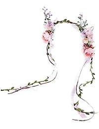 Corona nupcial del pelo floral diadema flores guirnalda tocado tocado accesorio para el cabello para la boda fiesta de playa vacaciones