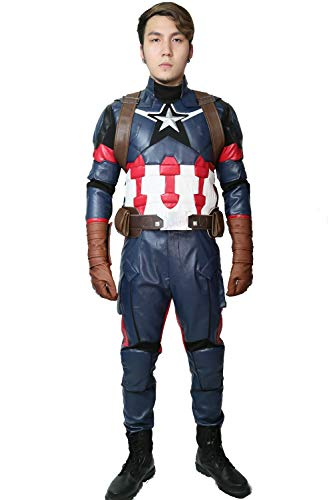 Mesky EU Steve Rogers Kostüm Captain America 3: Civil War Cosplay Outfits Gr. 100, As Shows