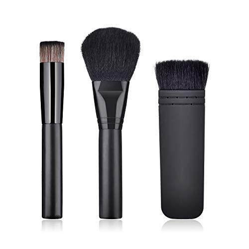 WESEEDOO 3 pièces Set de pinceaux de Maquillage pour Le Visage Correcteur de Teint Poudre de mélange Liquide Pinceau crème Pinceau de Maquillage cosmétique Professionnel