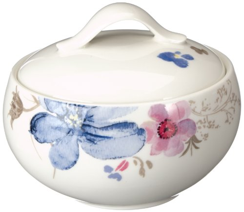 Villeroy & Boch Mariefleur Gris Basic Sucrier, Porcelaine Premium, Blanc/Multicolore