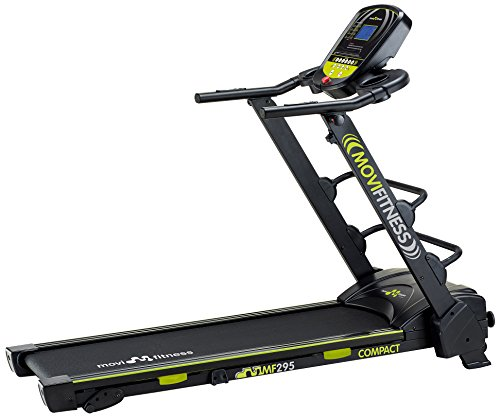 Movi Fitness MF295, Tapis Roulant Salvaspazio Unisex – Adulto, Nero/Verde, 170 x 72 x 135 cm