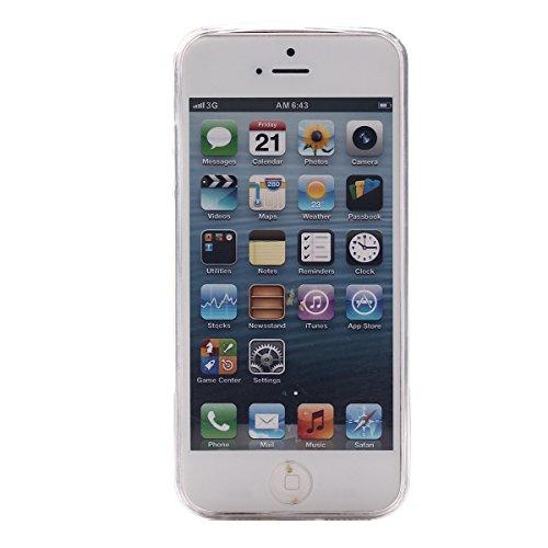 MOONCASE Etui pour iPhone 5G / 5S Gel TPU Silicone Case Cover Housse Coque Étui Mi03 Mi05 #1122