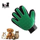 pretty petZ Fellpflege-Handschuh zur einfachen Entfernung Loser Tierhaare | Mit Massagefunktion für Hunde & Katze | Geeignet für Tiere mit langem oder kurzem Fell | +GRATIS E-Book