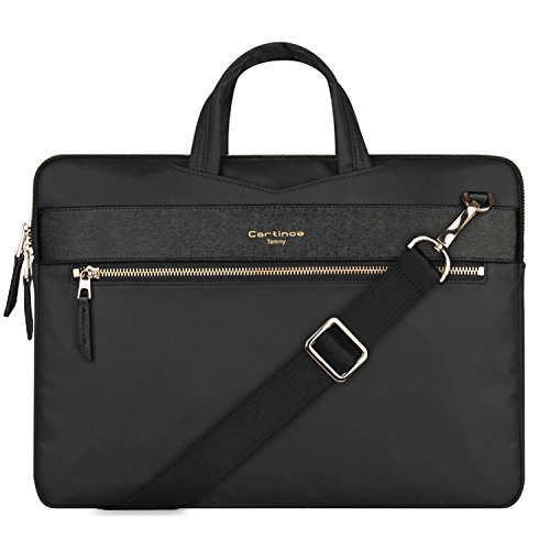 13-Zoll-Laptop-Tasche, College Business-Aktenkoffer 12-13,3-Zoll-Laptop-Hülle Laptop-Schulter-Umhängetasche für Apple MacBook Air Pro / iPad / Dell ASUS Lenovo Acer Chromebook Ultrabook - Schwarz -