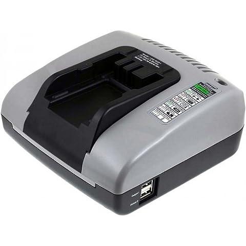 Chargeur pour batterie Powery avec USB pour visseuse sans fil Black & Decker XTC18BK, 7,2V-18V [ Chargeurs pour outil électroportatif ]