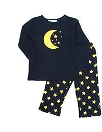 FUNKRAFTS Kids Moon Star Print Navy Blue Night Suit
