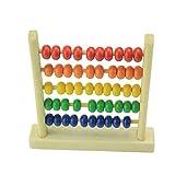 Demiawaking Kleine Abakus Pädagogisches Spielzeug für Kinder Hölzernes Frühes Lernenspielzeug der Kinder