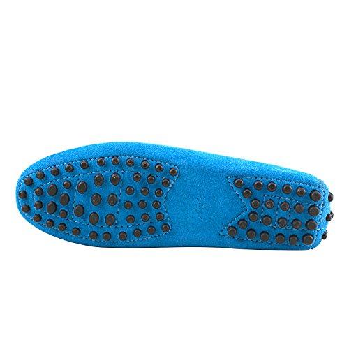 Zapatos Mocasines Ciudad Comodidad Mujer D7062 La Gamuza Multicolores Y Shenduo Mocasines Azules Barco De Clásico qPHwqBfxY