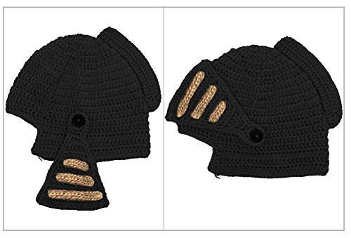 18037edb22f MOONPOP Roman Cosplay Knight Helmet Knit Visor Winter Mask Beanie ...