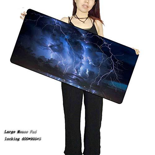 Kaidanba Blitz-blauer Himmel-Laptop-Computer-Verschluss-Rand großes wasserdichtes Mousepad Größen-Geschwindigkeits-Versions-Spiel Mousepadsg,300X700X2MM