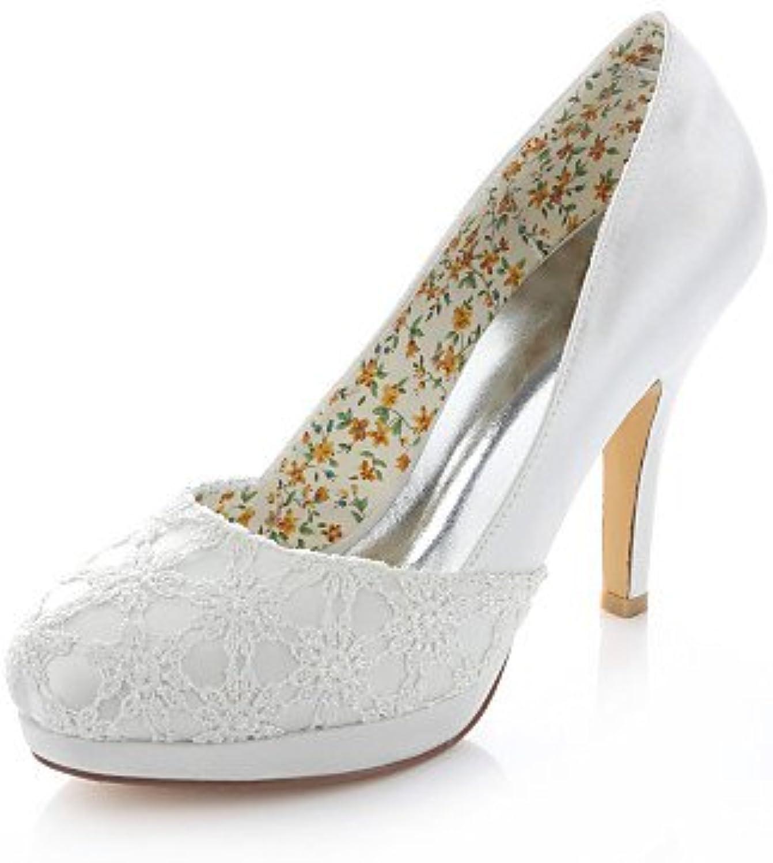 GGX/ Zapatos de boda-Sandalias-Tacones / Punta Abierta / Punta Redonda-Boda / Vestido / Fiesta y Noche-Marfil-Mujer...