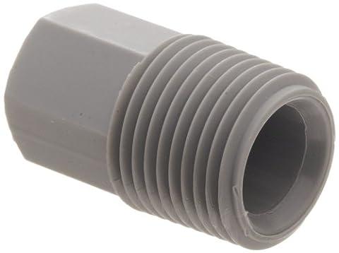 Raccord de tuyau annelé Nylon 6/6, adaptateur, gris, NPT mâle