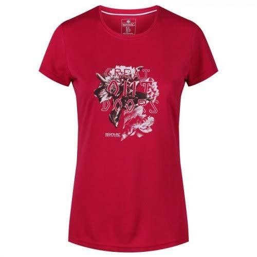 Regatta Damen Womens Fingal IV Quick Drying UV Protection Active Sports T-Shirt, Dunkle Kirsche, 24 -