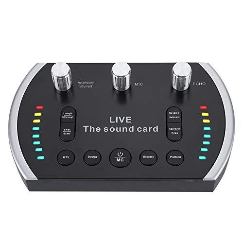 Externe Soundkarten, intelligente Voice-Soundkarte mit 8 Spezialeffekten, LED Leuchten, Bl
