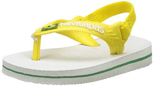 Havaianas Unisex Baby Brasil Logo II Sandalen, Weiß (White/Yellow Citric), 24 EU (22 Brazilian)