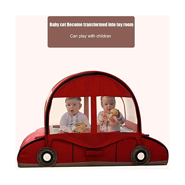 YANGGUANGBAOBEI Car Travel Crib,Breathable And Hypoallergenic Sleep Nest Newborn Lounger Pillow - Infant Toddler Cradle Multifunction Storage Bag,Red YANGGUANGBAOBEI ❤ [Safety material]:Our baby Mosquito net tents bed use certified non-toxic,lead free, baby safe material.breathable translucent mesh keeps parent easy view of your baby while keeps the air flowing and your baby dry,It is better for 0 -18 month baby ❤ [Save space]: Pop Up Baby Tent can be folded up nice and tight, making it so easy to put inside your backpack and bring it along to wherever you and your baby go. Take it to the park, the beach, a soccer Game, or simply in the living room for day-to-day use ❤[ tent]:Self-expanding screen tent that can be popped open and folded back down in seconds, two way zipper enable quick and convenient access to your baby inside the tent. 3