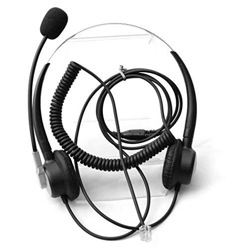 Comdio CH403A Telefonkopfhörer mit Mikrofon mit Geräuschunterdrückung, für Avaya Aastra Mitel Toshiba Polycom ShoreTel Plantronics Landline Desk IP-Telefone 5020 Ip Phone