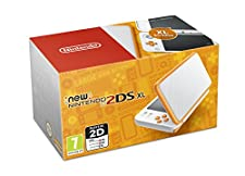 Nintendo Handheld Console - New Nintendo 2DS XL - White and Orange (Nintendo 3DS)