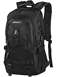 EletecPro Travel Backpack Large Laptop Business with USB Charging Port School Rucksack College Outdoor Travel Hiking