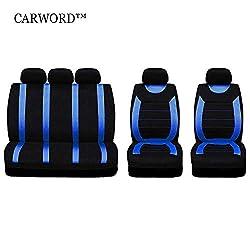 GDLQ Voller 9 Satz Vorne Hinten Autositzbezüge Autoinnenausstattung Saugfähig, rutschfest, Abwaschbar, for PKW, SUV Und LKW