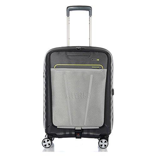 Trolley Cabina Roncato Double rigido nero viaggio lavoro 5145 Nero Lime porta pc tablet 4 ruote TSA