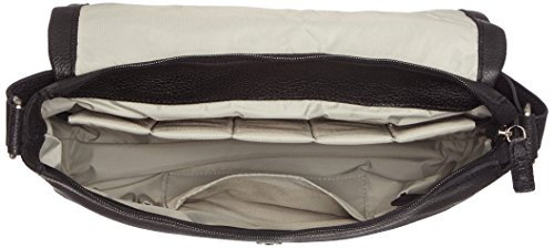 Leonhard Heyden, Jost Adult Vika Shoulder Bag, Sac bandoulière mixte adulte - Noir-V.6, Small Noir-V.6