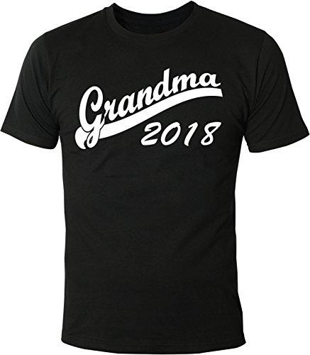 Mister Merchandise Herren Men T-Shirt Grandma 2018 Tee Shirt bedruckt Schwarz