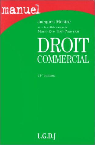 Droit commercial, 24e édition