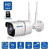 WLAN IP Kamera,SZSINOCAM 1080P HD Zwei-Wege-Audio Überwachungskamera,Außen IP66 Wasserdichte, Infrarot Nachtsicht, Cloud-Speicherung,Bewegungserkennung,16G SD Karten,Smartphones/Tablets/Windows