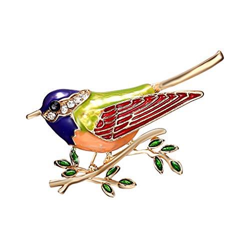 L_shop Vogel Zweig Diamant brosche kreative Elegante schöne Kleid Abzeichen klar Sparkly kristall Weihnachten brosche für mädchen, blau,