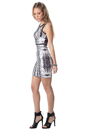 Q2 Donna Vestito mini con stampato astratto - XS -