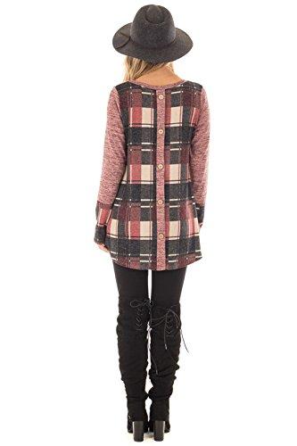 Miracleoccur Autunno Invernale Casual Maniche Lunghe Camicia Maglietta Felpa Oversize Sportiva Camicetta Maglia T Shirt Top Giuggiola